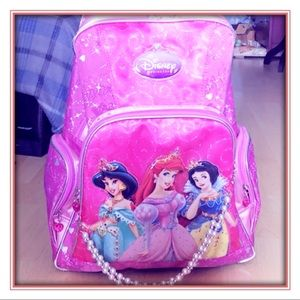 Disney Girls Rolling Backpack with School Supplies
